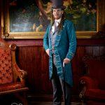 Neo Victorian brocade frock coat