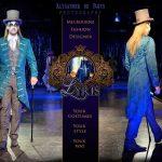 Alysander teal Neo Victotrian frock coat