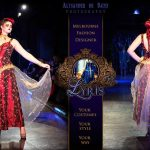 Lady Lithium red and gold gown