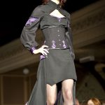 Black and purple gothic corset and gown