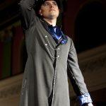 Black and blue Neo Victorian gentleman's coat