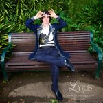 The Captain blue and gold steampunk coat