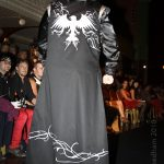Black and silver eagle coat