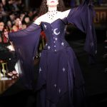 Blue corset and gown with stars and moon