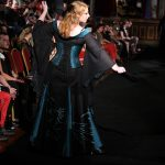 Black and green phoenix skirt and corset
