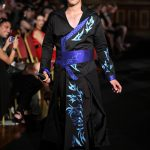 Blue and black water dragon coat