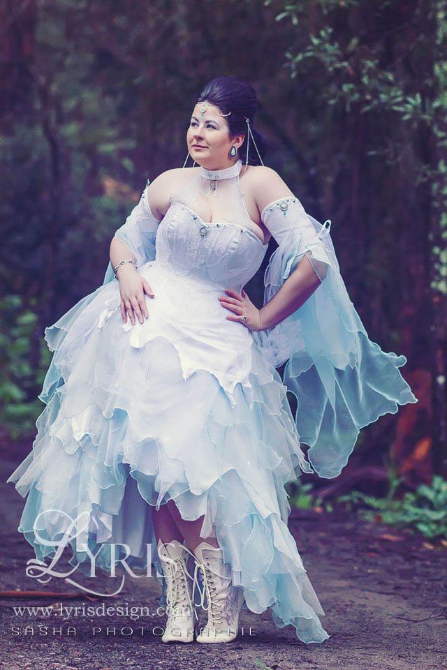 White moon fantasy corset gown