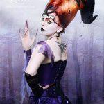 Gothic horns Titania corset