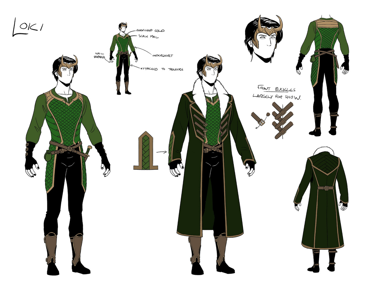 Character Costume Design Tips : The making of agent asgard loki lyris design