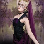 Black and purple gothic couture gown