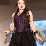 Steampunk black and purple fairy corset