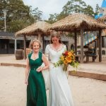 Mother of the bride, emerald silk gown
