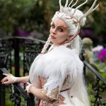 White fox kitsune forest spirit corset and dress