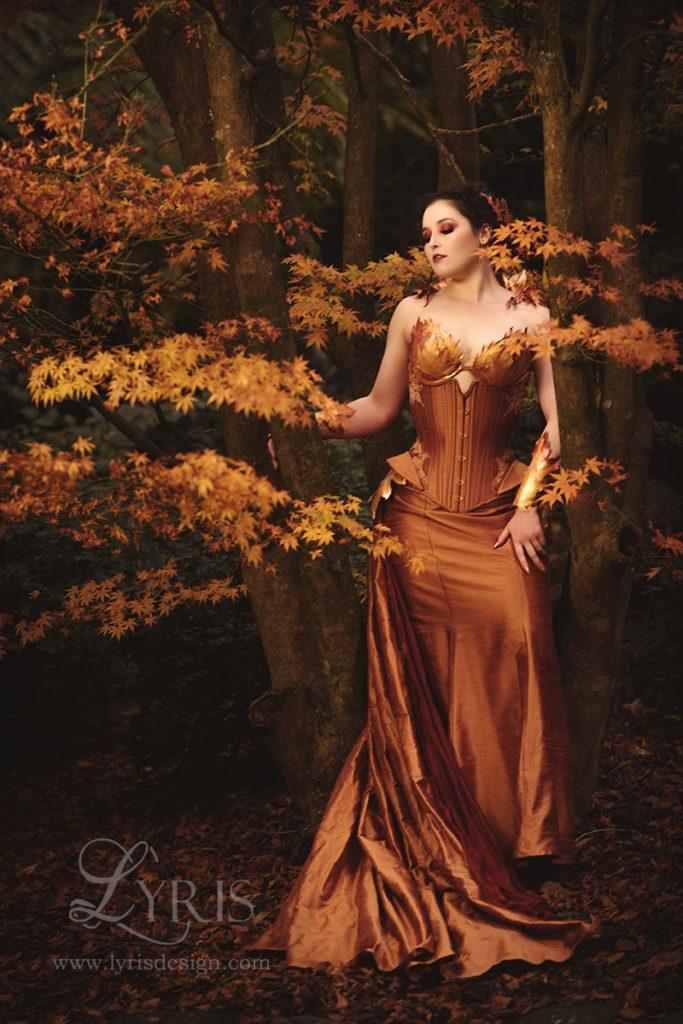 Autumn corset elven maid