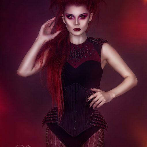 3D printed spike corset