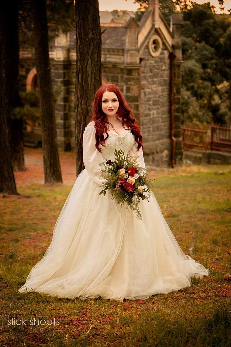 Ivory bridal corset