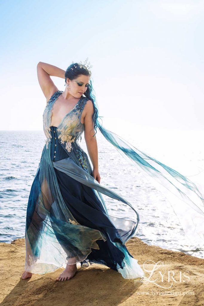 Blue ocean corset and gown