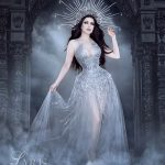 Silver corset gown