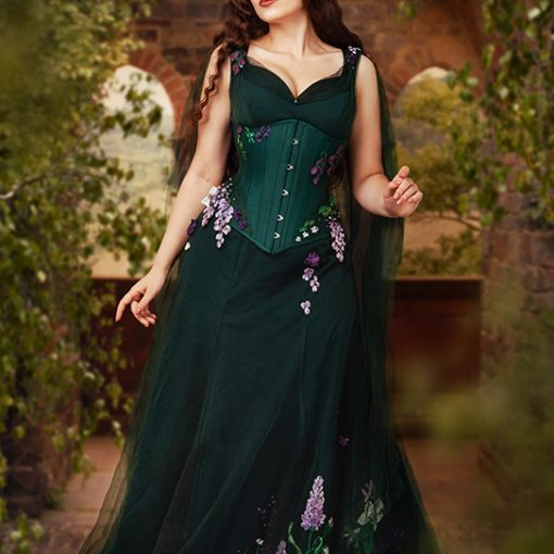 Forest corset and gown